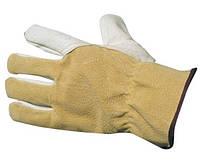 Перчатки кожаные, утеплённая подкладка