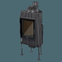 """Каминная топка """"Nordflam"""" Horn black decor 12 kWt с внешним стеклом"""