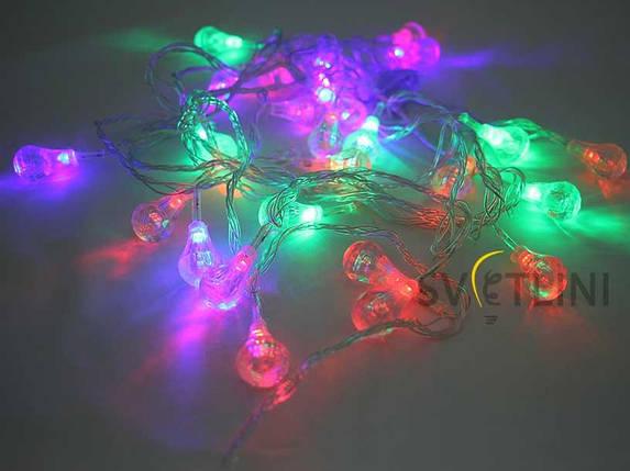 Гирлянда нить (String) с наконечниками разноцветная, фото 2