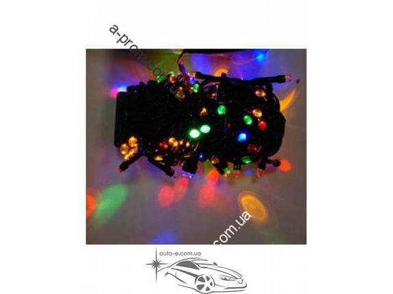 Гирлянда светодиодная линза 400ламп (LED). Цвета светодиодов: белый, синий, микс (разноцветный), розовая. Провод: чёрный., фото 2