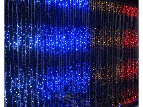 """Гирлянда светодиодная """"Водопад"""" 288ламп(LED), уличная. Цвет светодиодов: белый, синий, разноцветный, красный., фото 2"""