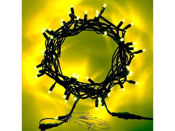 """Гирлянда уличная """"Нить"""" (String) 200LED 15м жёлтая, чёрный провод (каучук), светодиодная, фото 2"""