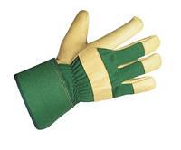 Перчатки кожаные утеплённые
