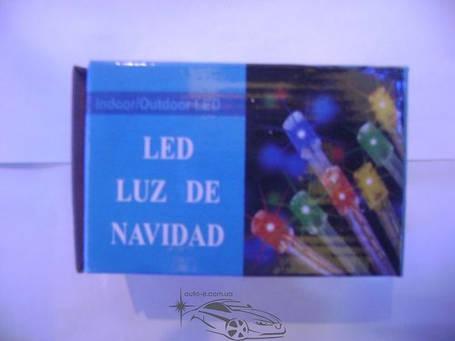 Гирлянда светодиодная 500ламп (LED) черный провод. Цвета светодиодов: синий, микс (разноцветный), белый., фото 2