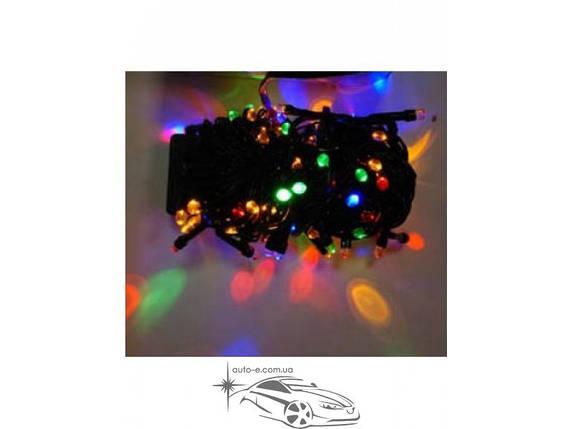 Гирлянда светодиодная линза 300ламп (LED). Цвета светодиодов: белый, синий, микс (разноцветный). Провод: чёрный., фото 2