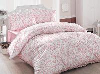 Полуторное постельное белье Brielle 801 V2 Pink Ранфорс