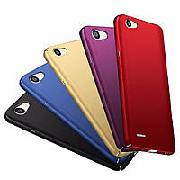 Накладка для Huawei P8 Lite 2017 пластик Soft Touch Series Золотой