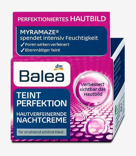 "Balea Teint Perfection Nachtcreme - Ночной крем ""Совершенство кожи лица"" 50 мл , фото 1"
