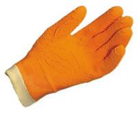 Перчатки из натурального латекса, внутренняя поверхность: хлопковая подкладка.