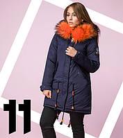 Распродажа - 80% | Био-Пуховик японский женский 8846 синий