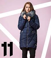 Распродажа - 80% | Био-Пуховик японский женский 8224 синий