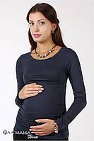 """Облегающий джемпер (реглан) для беременных """"Lora"""", графит, фото 1"""