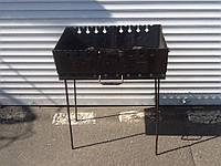 Мангал складной на 10 шампуров сталь 2мм, фото 1