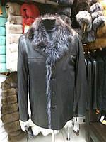 Зима Куртка Мужская Утепленная с Мехом Волка 049ТДМ