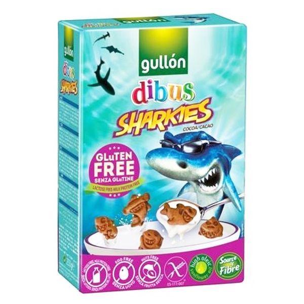 Безглютеновое печиво для дітей Акулята Sharkies Gullon 250 р. Італія