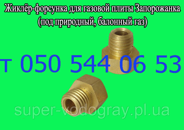 Жиклёр-форсунка для газовой плиты Запорожанка (под природный,сжиженный газ)