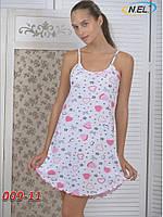 Женская ночная рубашка из кулира