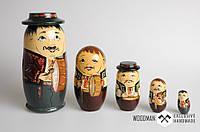 Матрёшка 5-х кукольная, авторская робота, ручная роспись, фото 1
