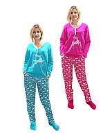 Женская теплая пижама для кормления р.40-56