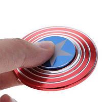 Спиннер Hand Spinner вертушка антистресс metall SP3 Captain America. Отличное качество. Доступно. Код: КГ2580