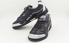 Обувь для зала мужская кожаная ZEL OB-90205-BK (р-р 40-45) (подошва-PU, черный)