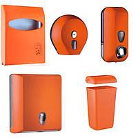 Комплект для туалетной комнаты COLORED, оранжевый