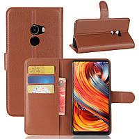 Чехол Xiaomi Mi Mix 2 книжка PU-Кожа коричневый