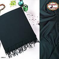 Зелёный стильный  шарф из пашмины