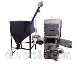 Пиролизный котел с автоматическим удалением золы и пеллетной горелкой 50 кВт, фото 3