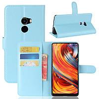 Чехол Xiaomi Mi Mix 2 книжка PU-Кожа голубой