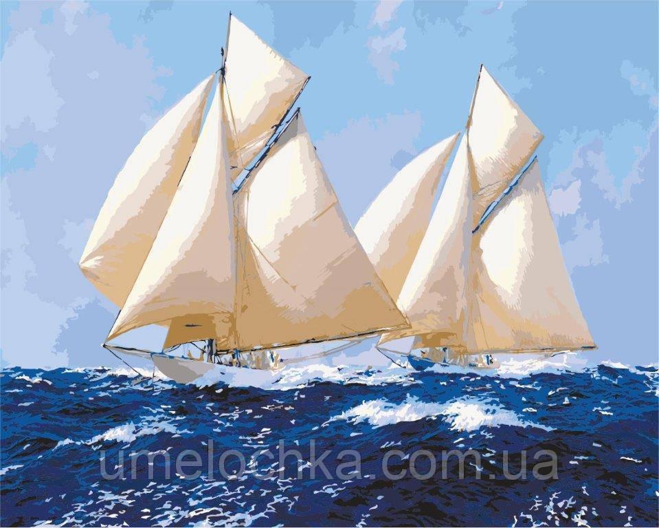Рисование по номерам Идейка Белоснежные паруса (KH2720) 40 х 50 см