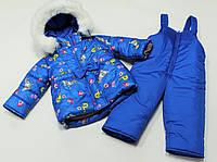 Детский зимний костюм двойка для девочки Синяя уточка