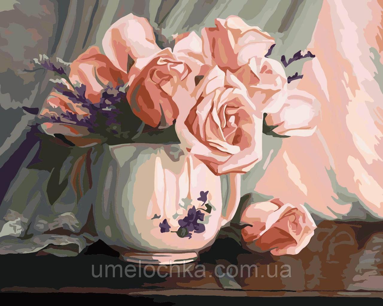 Картина по номерам Идейка Розовая романтика Худ Люси Биладо (KH2042) 40 х 50 см