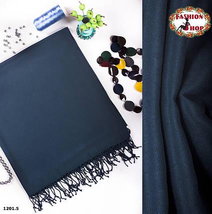 Стильный шарф из пашмины цвет морской волны, фото 2