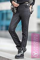 Теплі стильні брюки на синтепоні Косичка