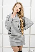 Женское платье-туника Шерли серый(44-54)