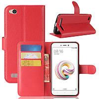 Чехол Xiaomi Redmi 5A 5.0'' книжка PU-Кожа красный