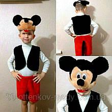 Детский карнавальный костюм Микки Маус,3-7 лет!Размер стандартный1