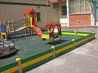 Резиновая плитка 500*500*30 мм., для детских площадок