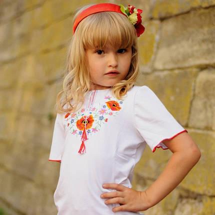 Детская вышитая футболка со Львова для девочек до 152 размера, фото 2