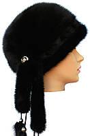 Меховая шапка норковая,Дафна (черная)