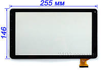 Сенсор, тачскрин для планшета Bravis NB105 3G (черный) 255*146 мм 10 дюймов 50 pin