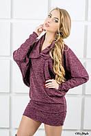 Женское платье-туника Шерли бордовый(44-54)