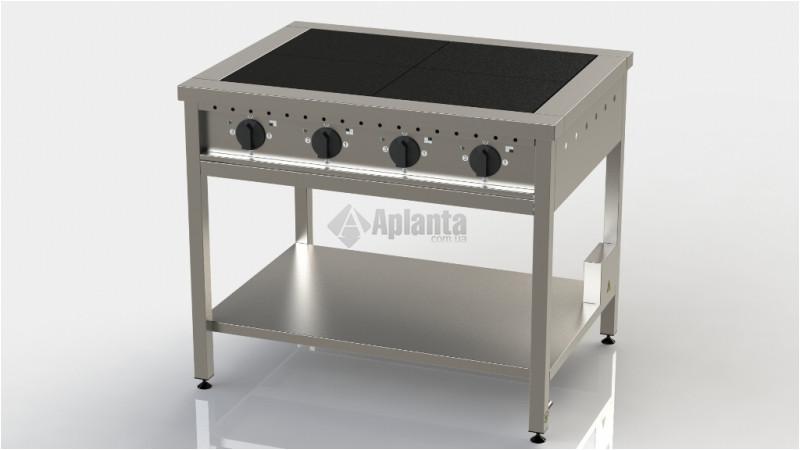 Плита электрическая четырёхконфорочная без духовки ПЭ-4