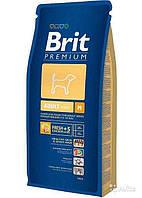 Корм для взрослых собак Brit Premium Adult М (Брит премиум адалт) средних пород 15 кг