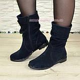 Зимние женские ботинки замшевые на меху., фото 3