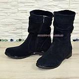 Зимние женские ботинки замшевые на меху., фото 4