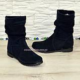 Зимние женские ботинки замшевые на меху., фото 5
