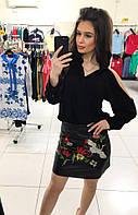 Женская кожаная юбка ,хит 2017 Турция размер 42,44,46