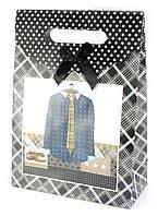 "Пакет подарочный картон ""Одежда"" (19,5х8,5х27 см)"